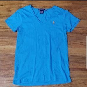 🎟 Ralph Lauren Sport blue shirt size medium